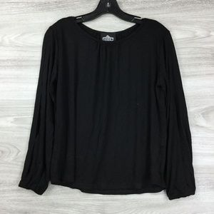 Angie Side Slit Sleeve Blouse Top